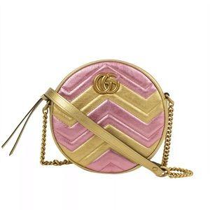 Gucci matalasse round leather handbag